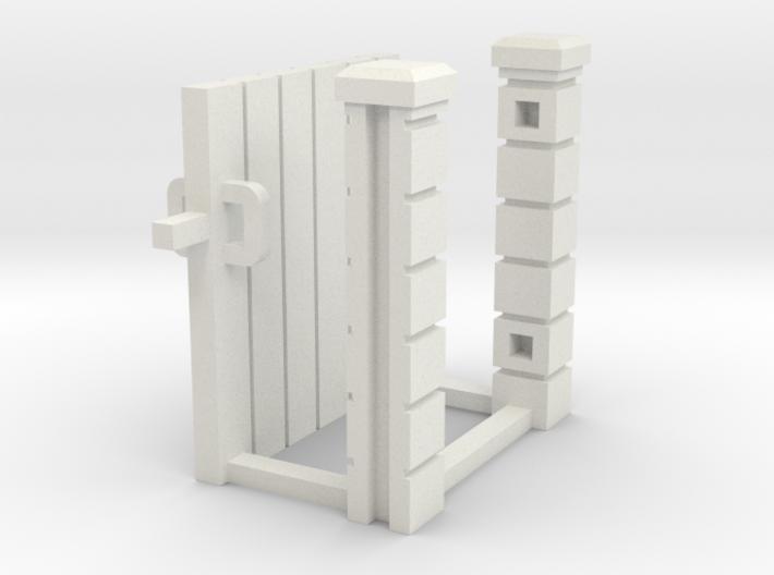 Block Wall - Wooden Man Gate-1 3d printed Part # BWJ-030