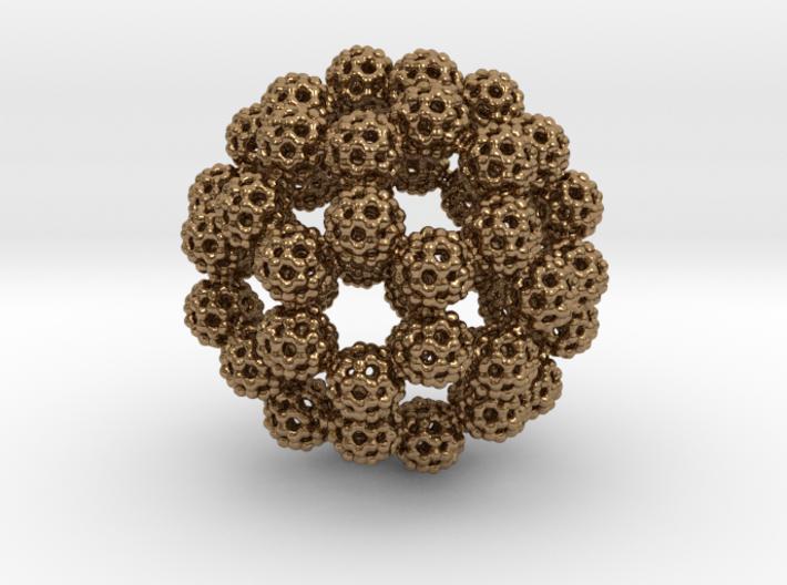 Fractal Fullerene Pendant 3d printed