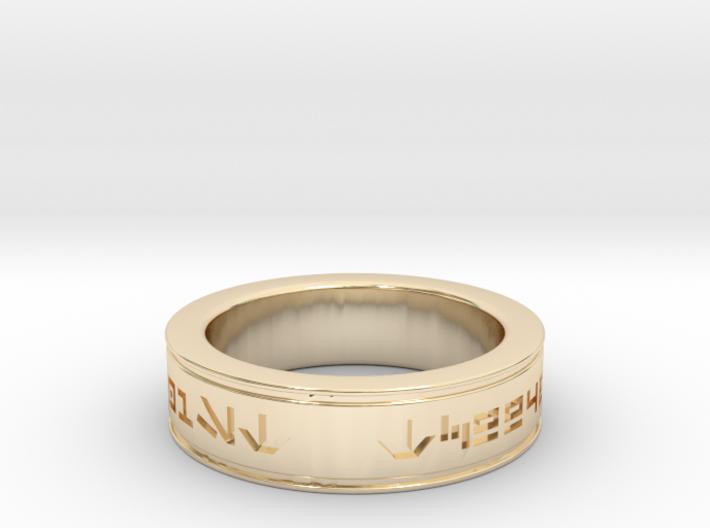 Trooper ID Ring 3d printed