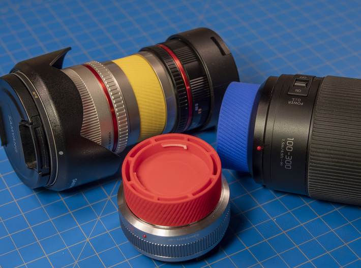 Stacking Lens Cap for Micro Four Thirds Lenes 3d printed One piece per order
