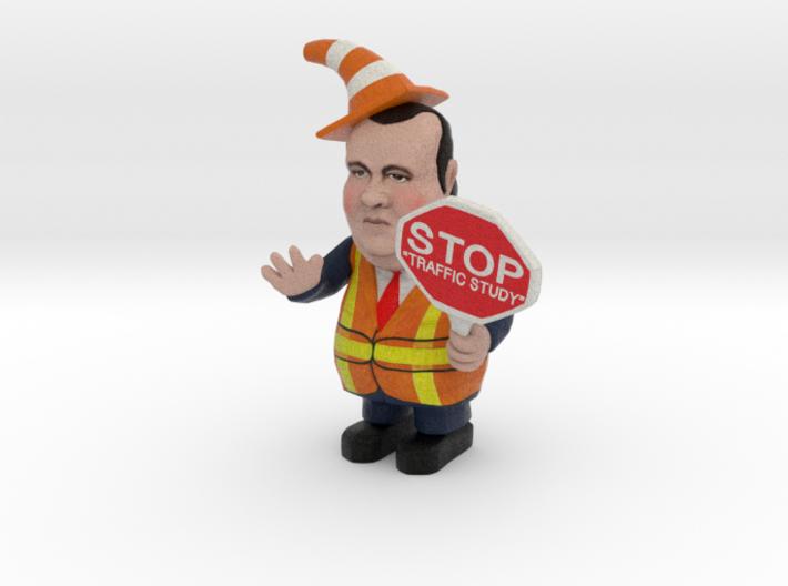 Chris Christie directing traffic BridgeGate 3d printed