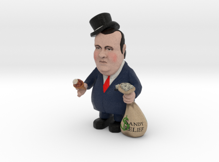 Small - Top Hat Re-election Slush Fund Chris Chris 3d printed