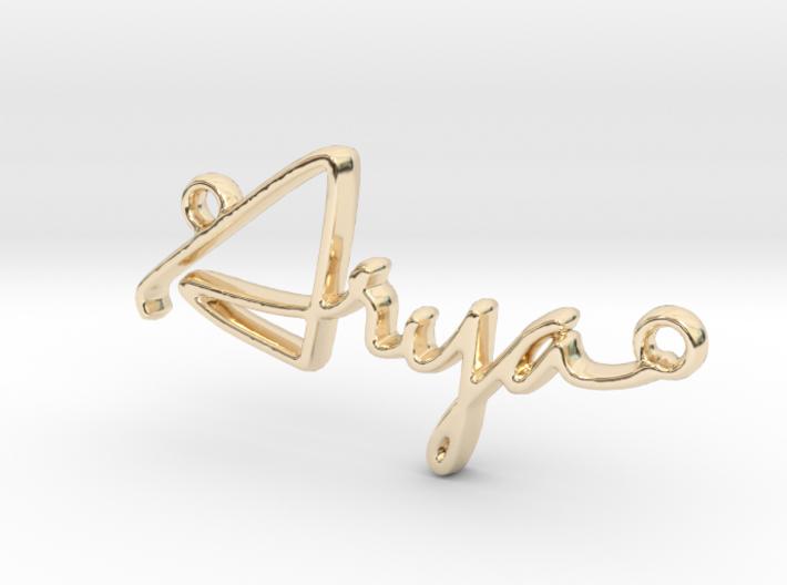 Arya First Name Pendant 3d printed