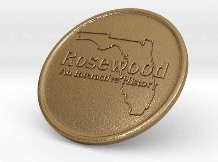 Rosewood: An Interactive History Collectible Coin 3d printed