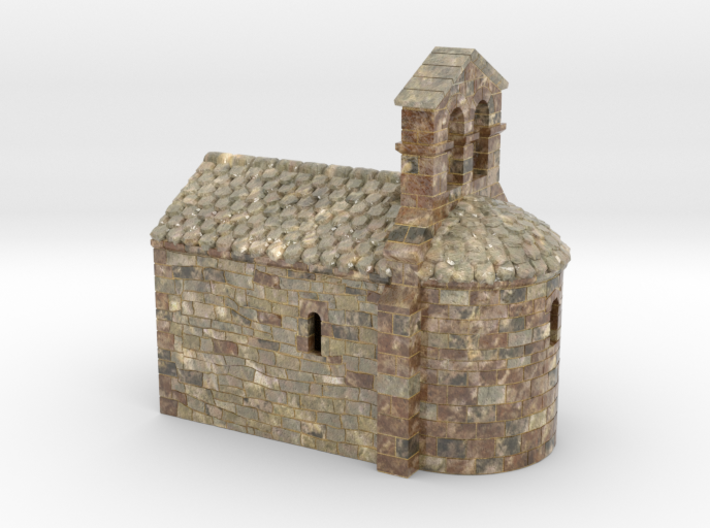 C-HORelCh03 - Small romanesque chapel fullcolor 3d printed