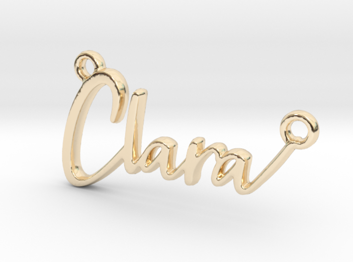 Clara First Name Pendant 3d printed