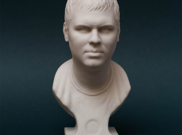 Male Bust (Dmitry) 3d printed