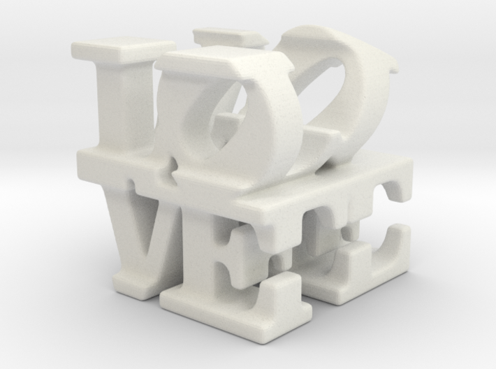 love/life - tiny (1cm) 3d printed