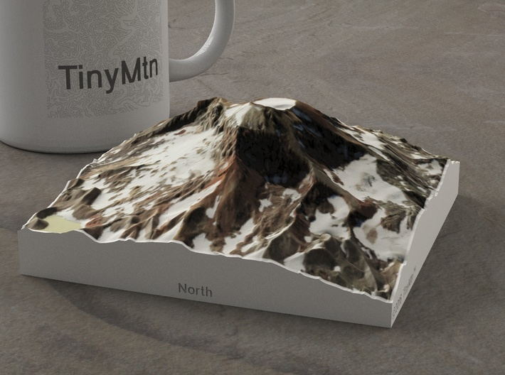 South Sister, Oregon, USA, 1:25000 3d printed