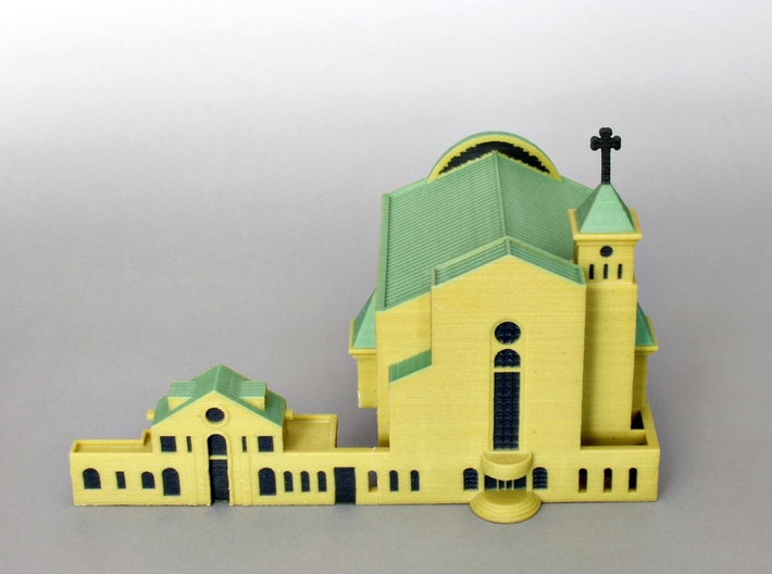 Suseo Cathedral color 3d printed