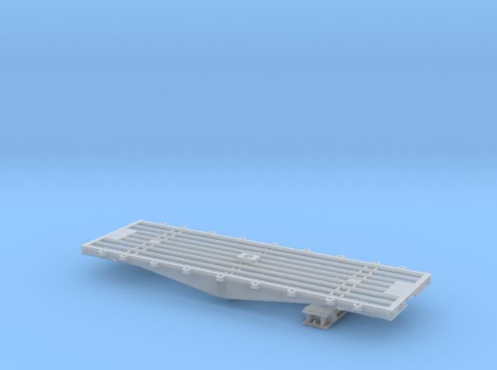 PRR F22 flat car w/bridge in O scale 3d printed