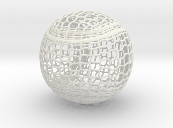 Tennis Ball Curve Wire Mesh 3d printed