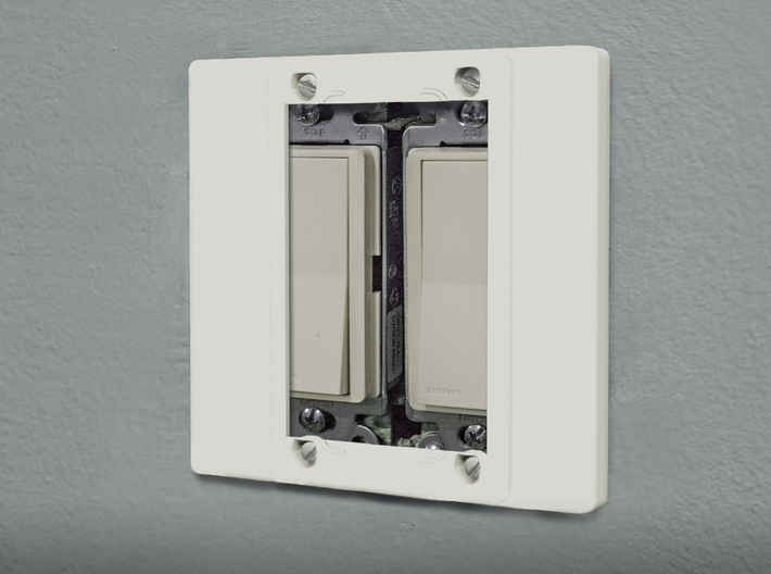 Philips Hue Dimmer Double Gang Plate (US Decora) 3d printed