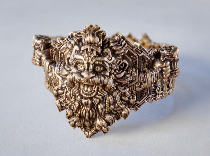 The Dwarven Ring of Festivities 3d printed Heat Patina and manual polish