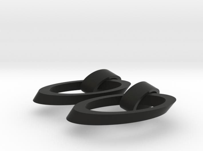 Oval earrings 3d printed
