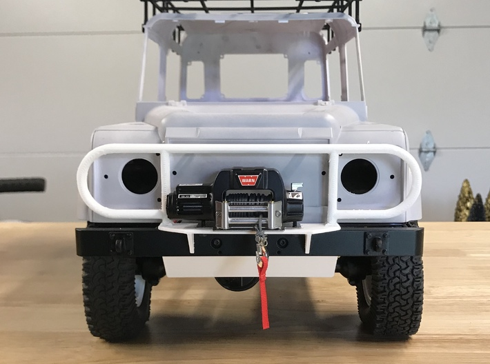 CA10002 Camel Front Bumper 3d printed PLEASE NOTE: Parts shown in white for demonstration purposes only. All parts come in black