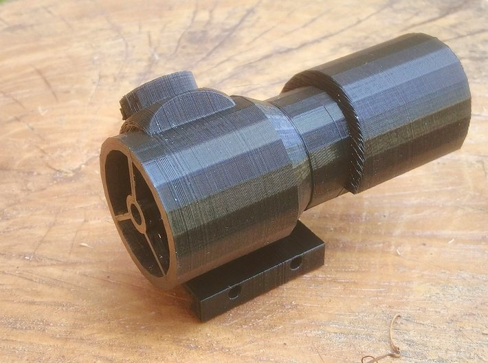 Hooded Red Dot Scope for Nerf Rival Rail 3d printed