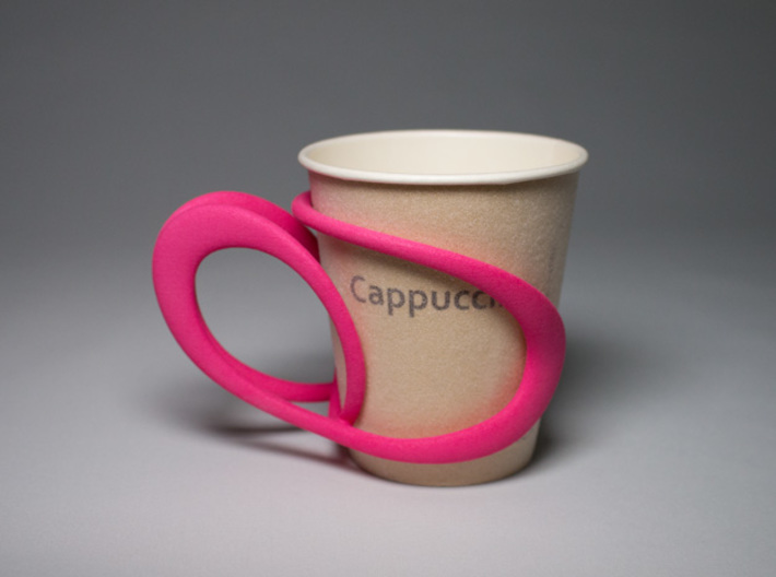 Comfortable Cup Holder 3d printed with the 7 oz paper cup
