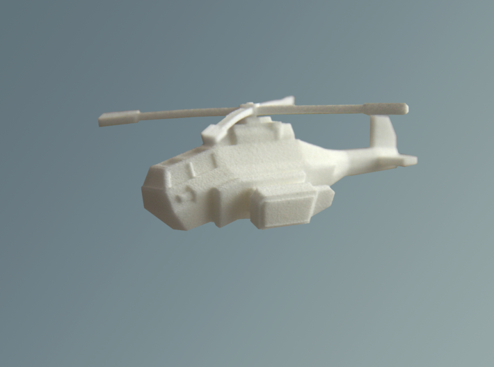 'Striker' Gunship 6mm 3d printed White, strong and flexible