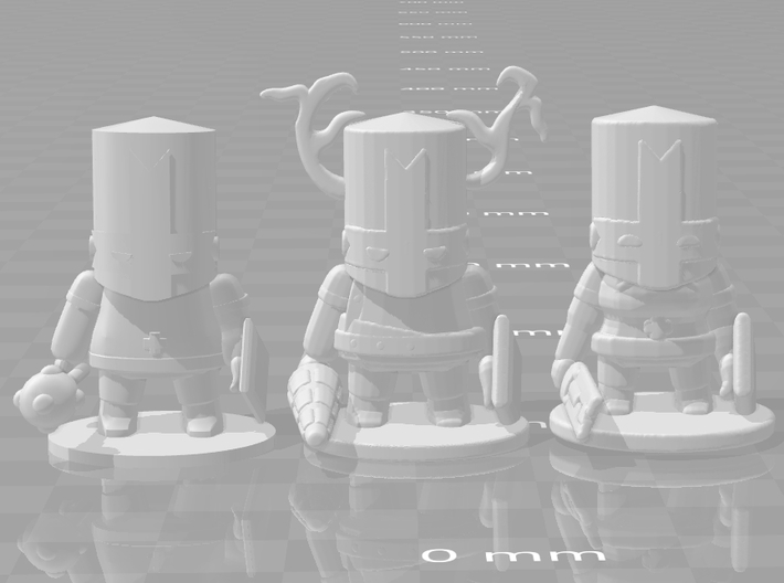 Castle Crashers female Knight miniature games rpg 3d printed