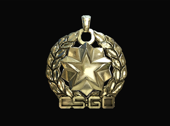 CS:GO - Distinguished Master Guardian Pendant 3d printed