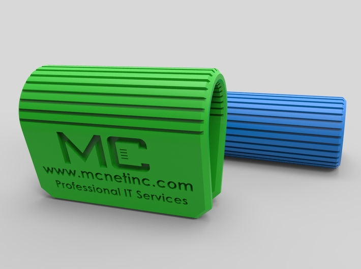 MC-Networks Logo Corporate Webcam Security Cover 3d printed Render of webcam covers green blue