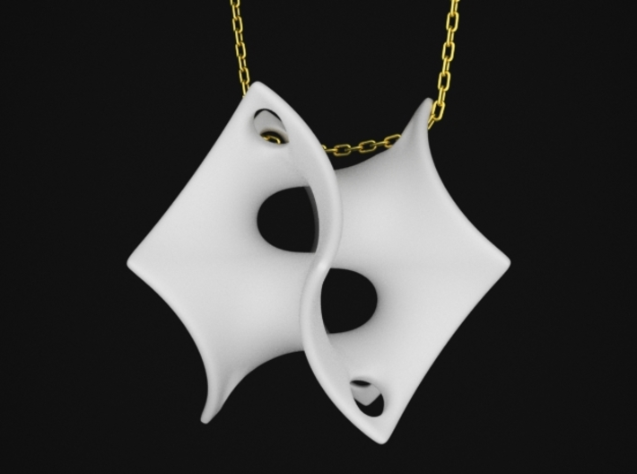 Batwing Surface Pendant 3d printed