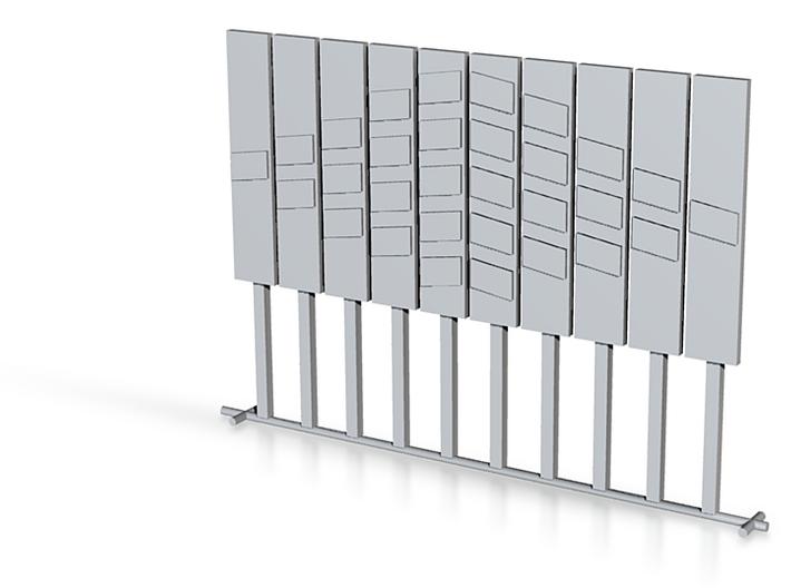 panneau beton distance pleine voies et contre voie 3d printed