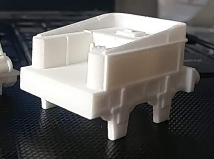 00 Scale Northumbrian Tender Scratch Aid 3d printed WNV as-printed (image kindly supplied by a customer).