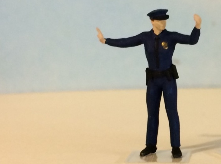Police Officer Directing Traffic 3d printed