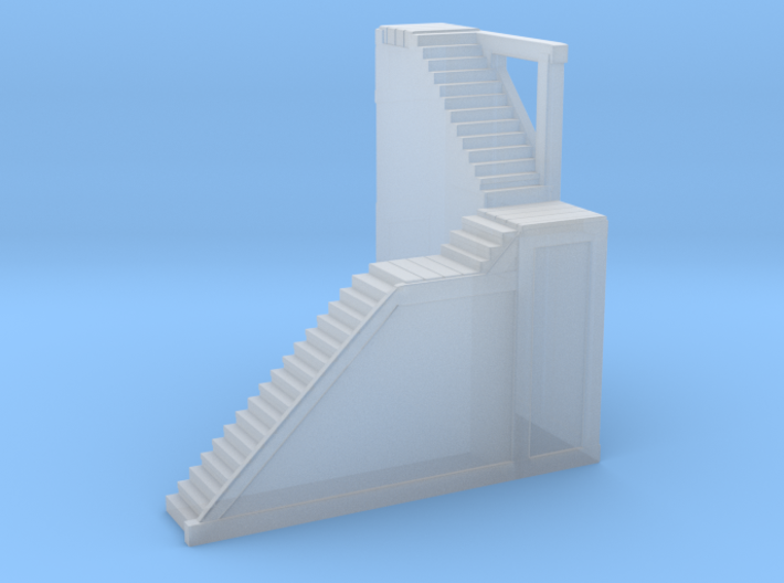Glacier Town (Right Side) Stairs 3d printed