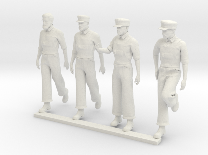 1860s Engineers for Steam Engine, N Scale (Set 2) 3d printed