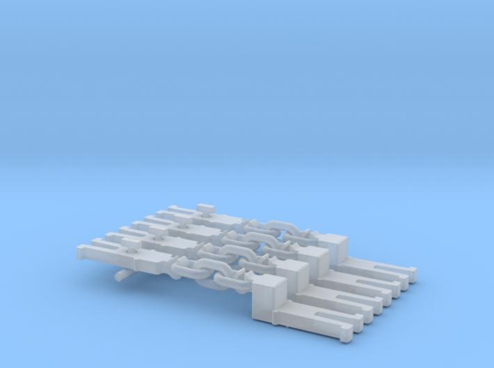 NEM OO Type 12 Couplings - Adaptor 3 Link x4 3d printed