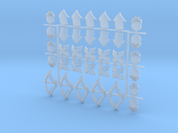 4x10 Squad MultiPack - Small Convex Insignias (5mm 3d printed