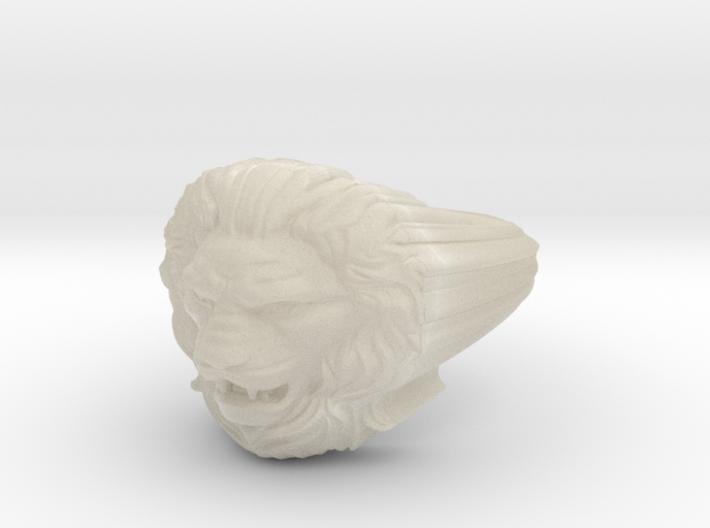 Lion ring # 2 3d printed