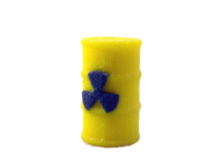 Radioactive Barrel, Yellow 3d printed Photo of barrel in full color sandstone.