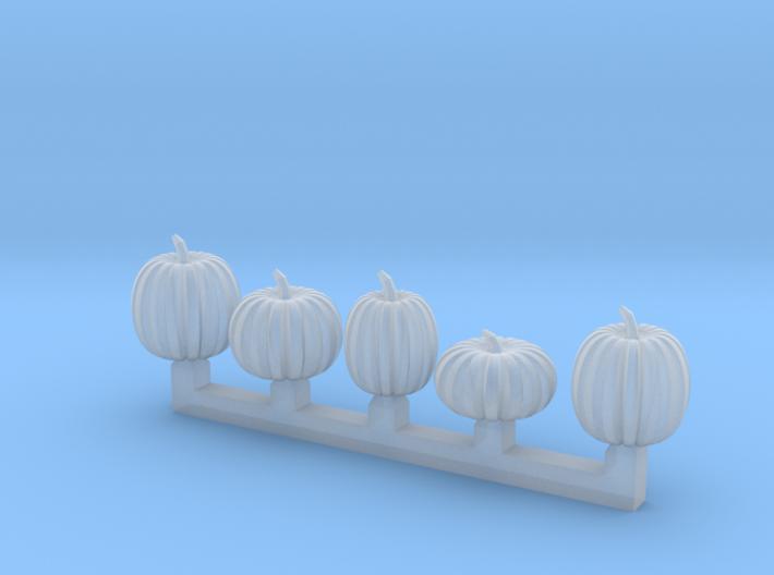 5 pumpkins 3d printed