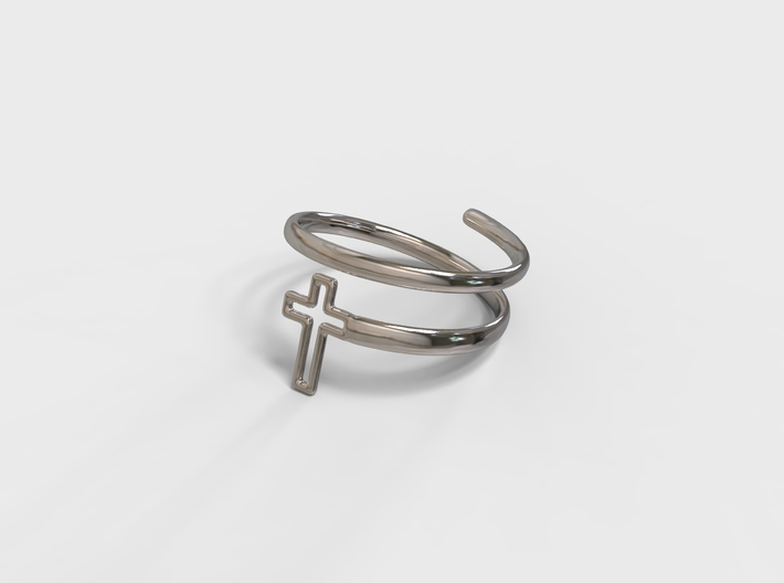 Spiral Cross Ring 3d printed