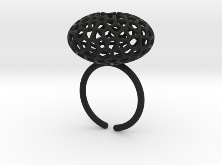 Star Coral Ring sz 8 3d printed