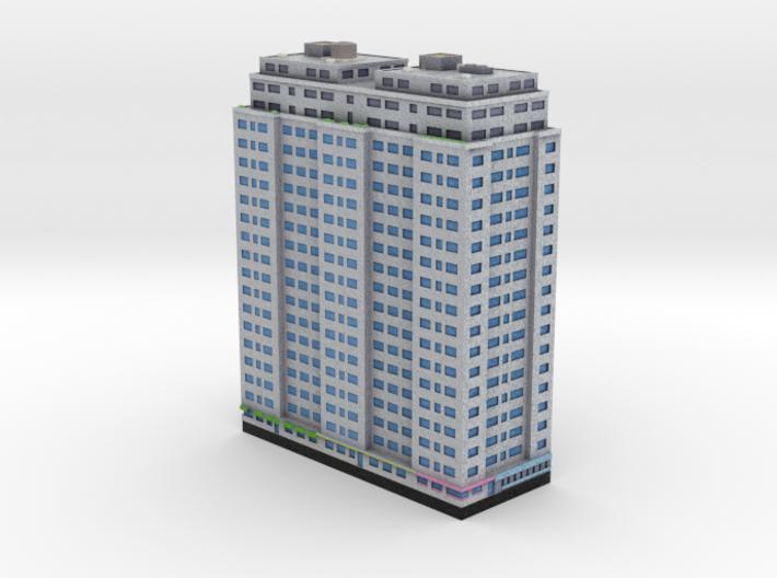 New York Set 1 Residential Building 2 x 4 3d printed