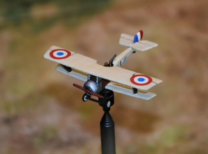 "Nieuport 12bis 3d printed Photo and paint job courtesy Peter ""Teaticket"" at wingsofwar.org"