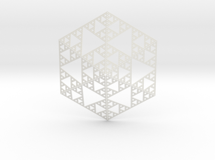 Sierpinski 6 Sided Pyramid 3d printed