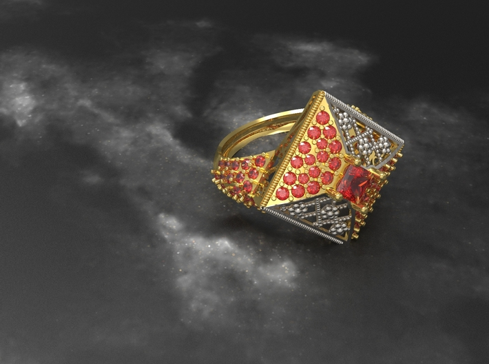 Gold ring 3d printed