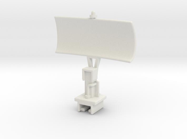 USS Flagg Mast Array - Surface Radar Dish 3d printed