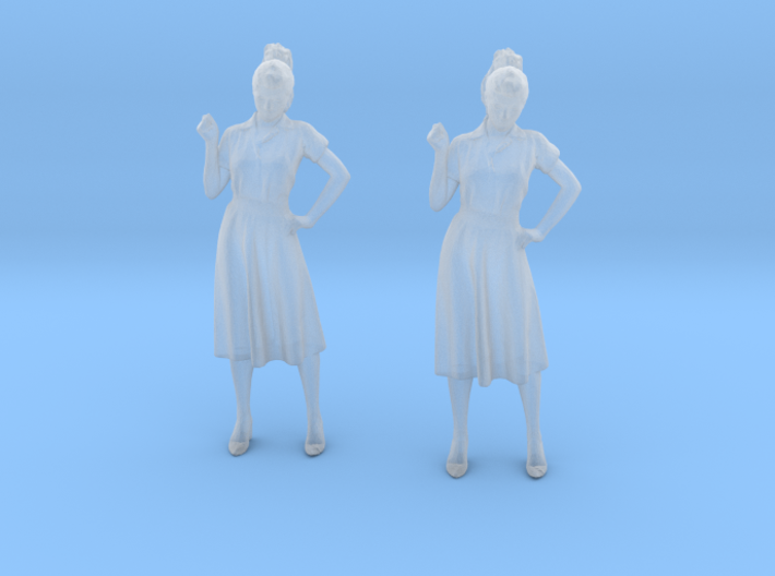 Female Standing Chatting 1940's 3d printed