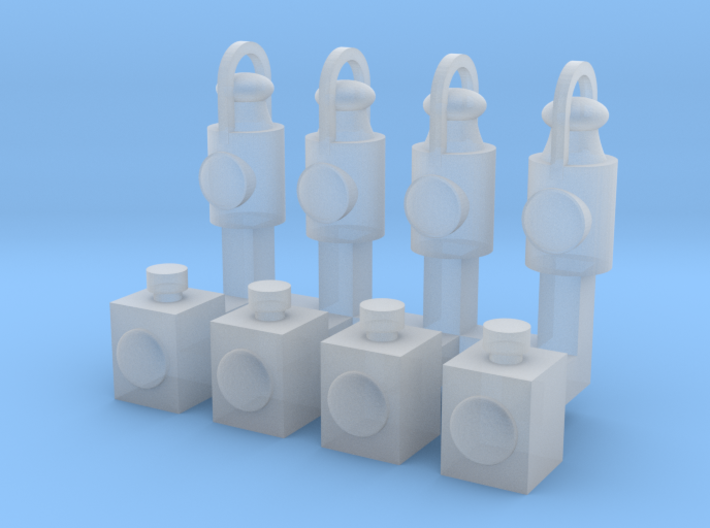 OO9 Scale Head Lamps and Tail Lamps (8 Pack) 3d printed