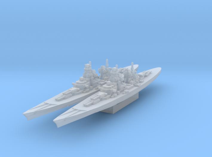 H-39 Battleship 1/4800 3d printed