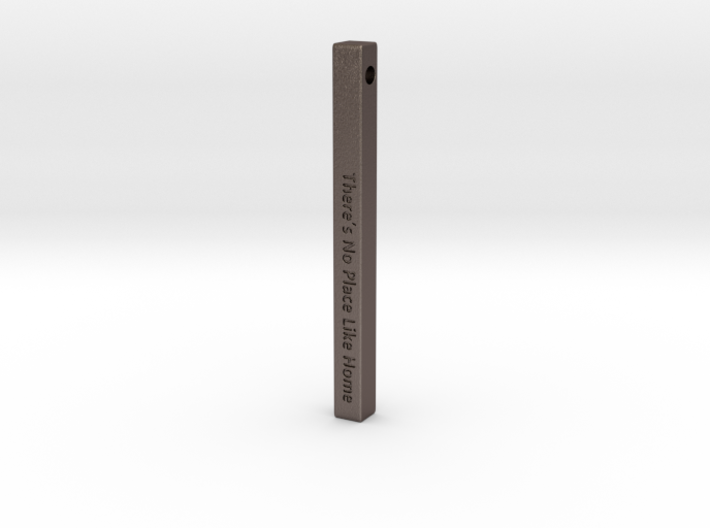 """Vertical Bar Pendant """"There's no place like home"""" 3d printed"""
