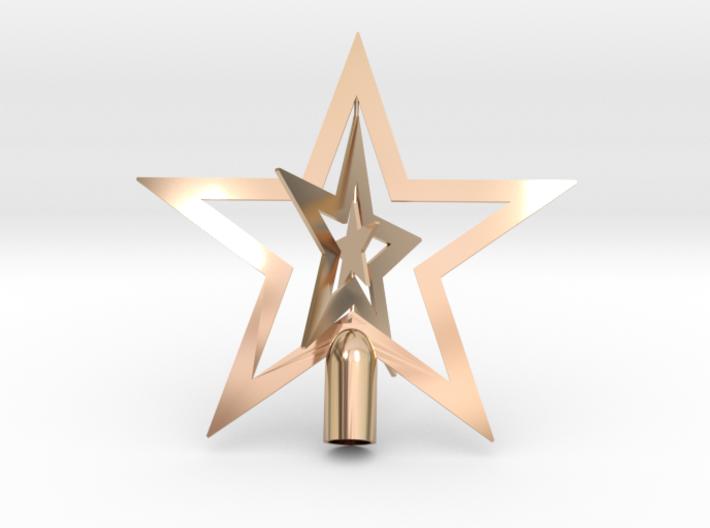 "Star spark tree topper Christmas - Small 10cm 4"" 3d printed"