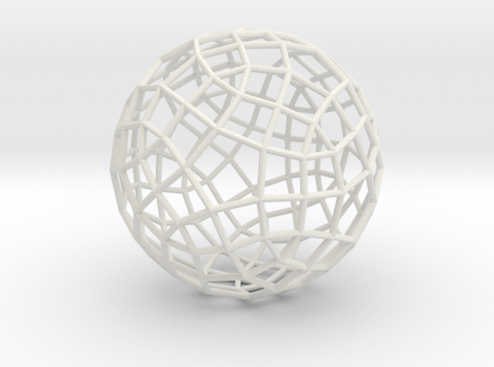 Generalized rhombicosidodecahedron 3d printed